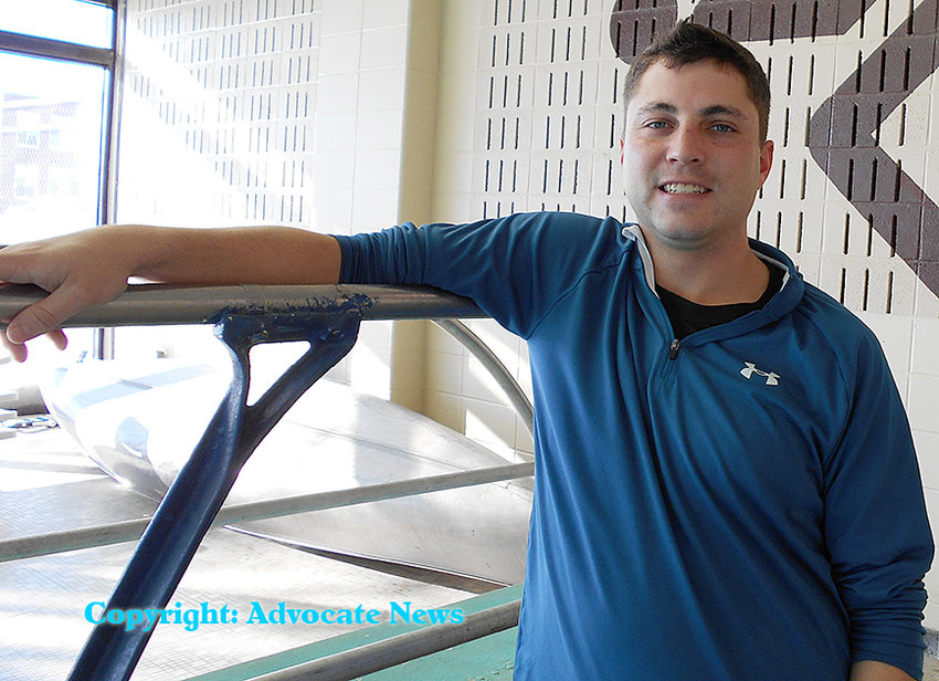 Former Wilton Pool Aquatics Director Ryan Farnsworth, as shown in 2015 when he got the position.