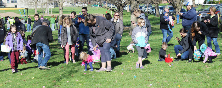 Wilton Easter egg hunt—Sponsored by the Wilton Hustlers 4-H Club with funding from the United Way of Wilton, the annual Wilton Easter egg hunt was held in City Park April 20. Prizes and golden eggs were hunted by children in age groups 0-3, 4-5, 6-7 and 8-9 years old.
