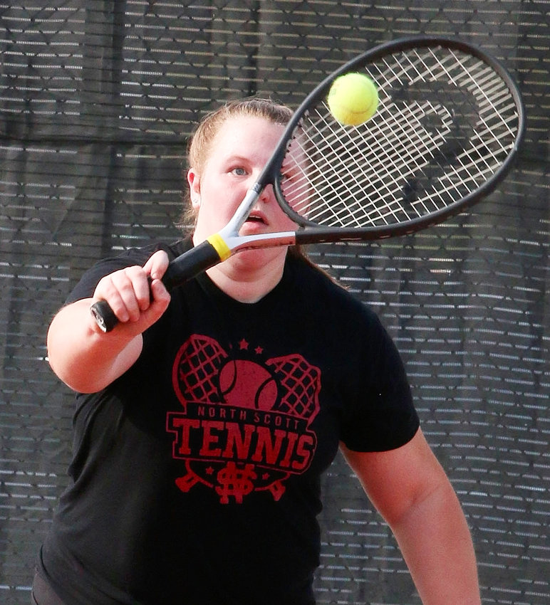 Lancer senior Abby McKay has been a fixture at No. 2 singles all season.