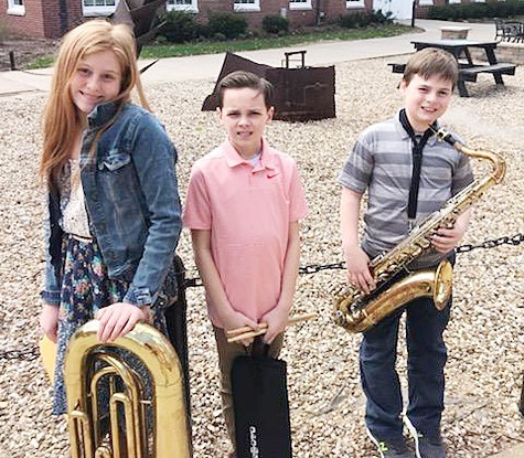 On Saturday, April 13, Wilton students participated in the Coe College Honor Band. The students included fifth grade students Cora Marine, tuba; Ewan Arlen, percussion; and Kyle Grunder, tenor saxophone.