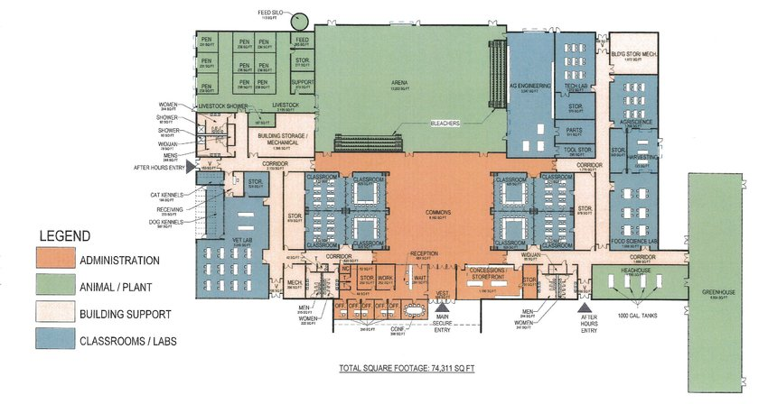 North Scott's proposed regional agriculture education center plan