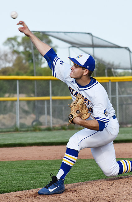 Wilton senior Collin McCrabb started the year with a win against Tipton May 23.