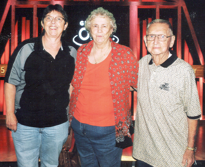 Jim Whiteley, right, and Kay Whiteley, center, of Wilton and their daughter Delores Whiteley, left, of Denver, Colorado will be honored at an open house on Saturday, June 22 to celebrate their 90th, 85th and 60th birthdays, respectively. The celebration will be held at the Wilton Community Room from 1 until 4 p.m. Friends and family are invited to attend. Cards and well wishes will be accepted. No gifts, please.