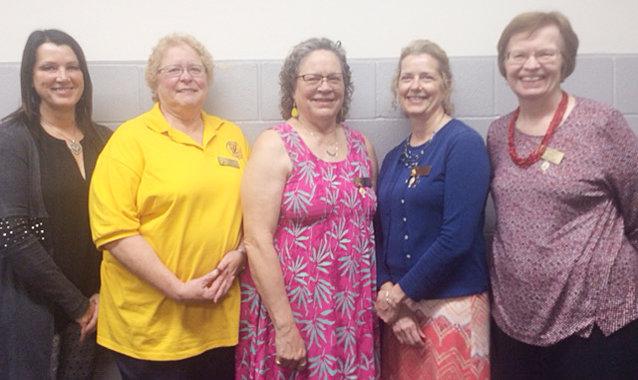 Durant Lioness 2019-2020 Officers installed—From left, President Tina Hammer, Tail Twister Jo Samuels, Vice President Hollie Swain, Treasuer Lesa Kephart and Secretary Janet Gehrls.