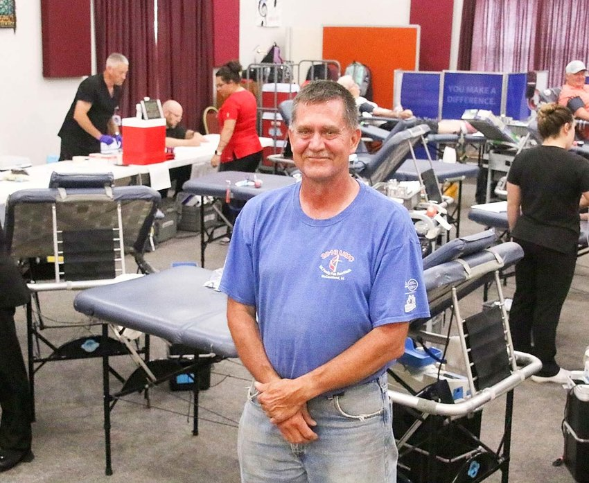 Lloyd Claussen gives the gift of life.
