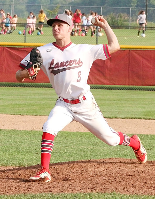 Lancer junior Jake Matthaidess delivered a 15-strikeout performance in leading the Lancers to a 6-2 win over Muscatine Monday night.