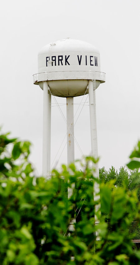 This water tower will come down as part of Park View's estimated $1.3 million water treatment upgrade.
