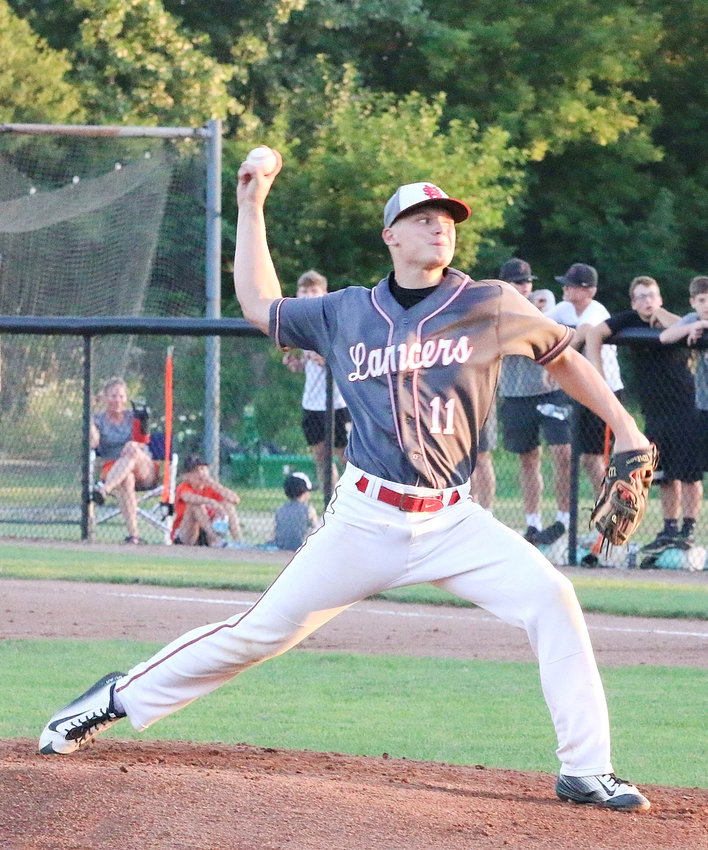 Lancer junior Grayson Drezek gave up just two hits, and not a single earned run in North Scott's 5-2 substate loss to Cedar Rapids Prairie.