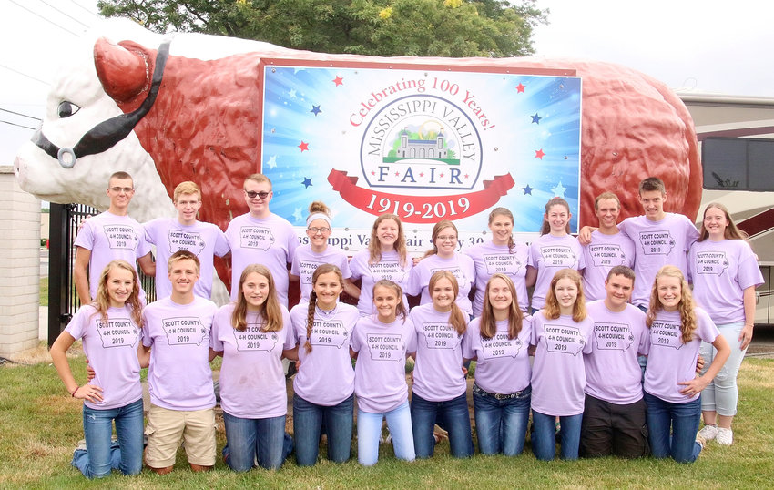 Members of this year's Scott County 4-H Council are: (front row, l-r) Coryn Wilson, Kody Koberg, Brianna Blake, Claire Westerhof, Abigaile Paper, Chloe Engelbrecht, Lauren Wall, Dana Jamison, Grant Van Nice, Grace Bjustrom; (back row, l-r) Colin DeCap, Anton Kordick, Dylan Engelbrecht, Kyrnan Liske-Rochholz, Lauren Keeney, Mary Kauffman, Annie Hollonbeck, Sophia Pike, Andrew Van Nice, Zach Paustian, Raven McCabe. Not Pictured: Abbi Lafrenz and Grace Sampson