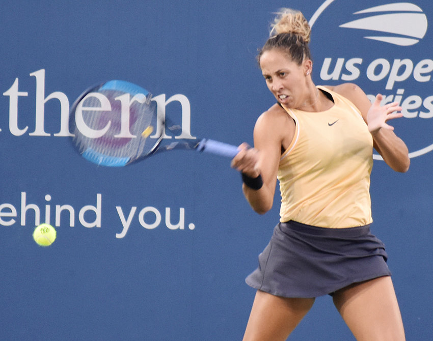 Madison Keys, a Rock Island native now ranked No. 10 in the world tennis rankings, is shown above competing in the Western & Southern Open in Mason, Ohio last week. She won the tournament for the first time, defeating several major champions along the way. Keys was as close as she ever gets to home while competing on the pro tour.