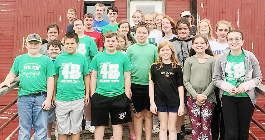 New officers were selected for the Wilton Hustlers 4-H Club. New officers are as follows: President - Ellie Hugunin, Vice President - Aiden Hewitt, Secretary - Anna Marine, Treasurer - Colby Brown, County Council - Ellie and Anna. Members of the club are pictured above. For those interested in joining 4-H, contact a current member, Maria Brown, Travis Hugunin or Dan Marine for more info.