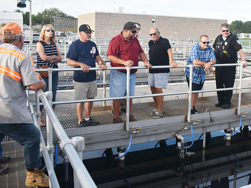 Wilton city employees, the mayor and members of the city council toured the city's new wastewater treatment plant Sept. 16. The plant, which came with a price tag of more than $6 million, is operational, with just punch-list items remaining to complete.