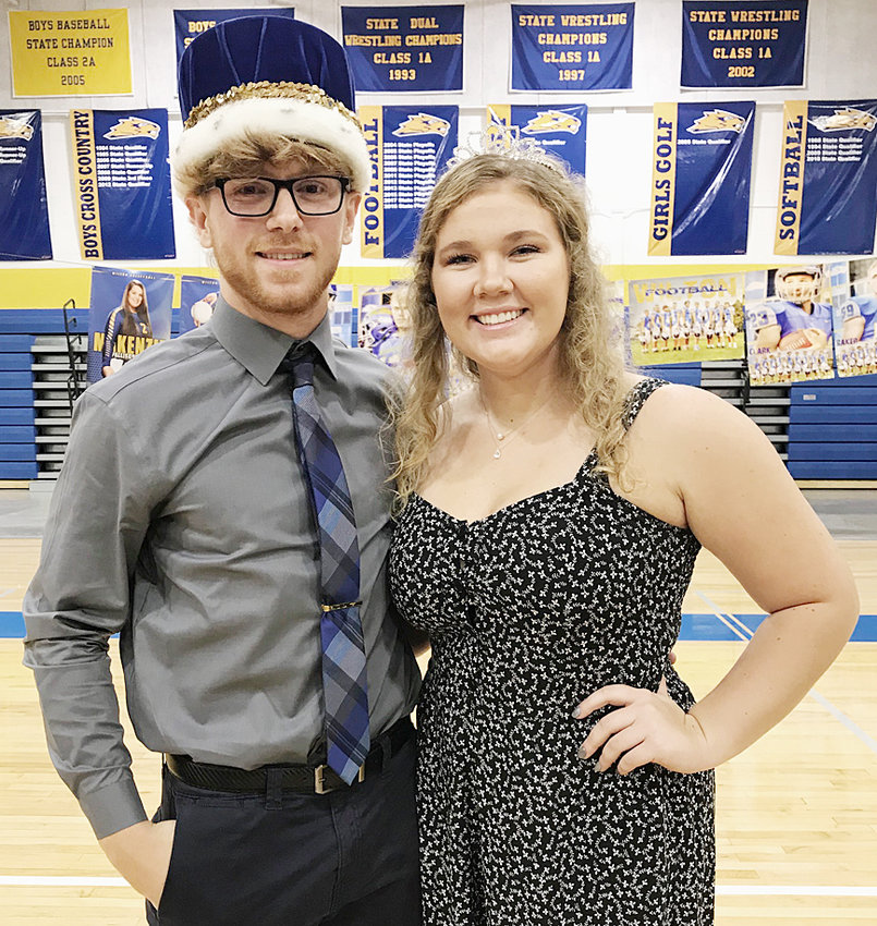 Wilton royalty—Wilton High School held its 2019 homecoming parade and pep rally Oct. 2, crowing seniors Pat Barszczewski and Taylor Garvin homecoming king and queen.