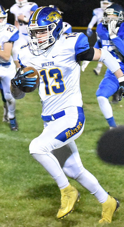 For the second straight game, Wilton's Colby Sawvell took the opening kickoff for a touchdown in road action at Van Buren.