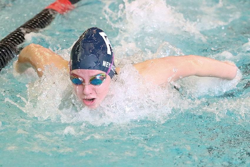 Jordan Neymeyer powers through the water.