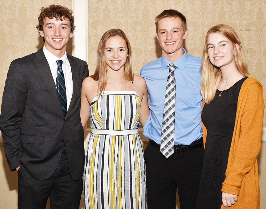 Area students who attended the National Council on Youth Leadership (NCYL) Town Meeting on Tomorrow (TMOT) conference in St. Louis include (from left) Kael Jauron (Tipton High School), Hope Reichert (Muscatine High School), Kody Koberg (Durant High School) and Grace Longlett (Wilton High School).