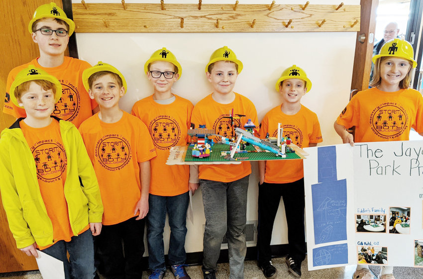 The FIRST Lego League of Durant attended a competition Dec. 8 at the Putnam Museum in Davenport. This year's competition theme was City Shaper, where the kids were asked to identify an area in their community in need of some improvement. The kids chose Durant's Jaycee Park and updating playground equipment to be more inclusive of those with special needs. The team presented its project to a panel of judges and was also judged on the completion of their robot and how well it was coded to perform different missions. Pictured, front from left, Nevin Williams, Cameron Utter, Royce Richman, Brayden Skriloff, Adam Wulf and Ava Streeter; back row, Landon Marth. Not pictured are coaches Monica Wulf and Marie Richman. The team won an award in the project category and is excited to start meeting again for next year's competition.