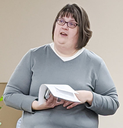 Jodi Fleet, the next Cedar County Emergency Management director, met with the Durant city council Jan. 27.