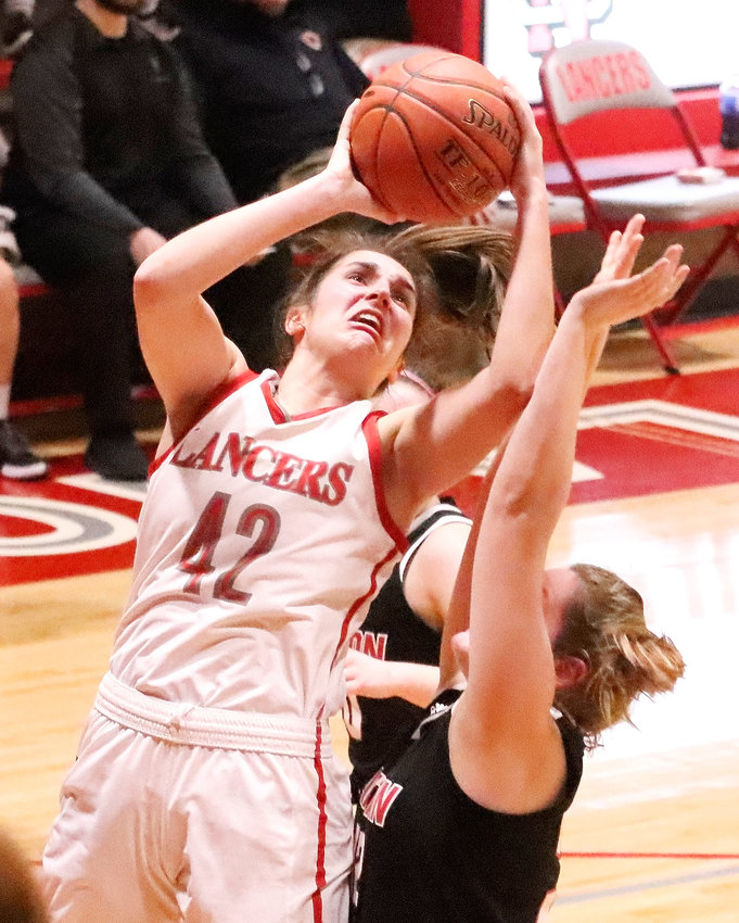 Grace Boffeli continues to be an inside force for the Lancers. She scored a team-high 15 points against Clinton on Friday night, three days after going off for a school-record 43 in a win over Bettendorf.