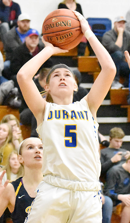 Durant's Ally Happ had a big night with 22 points and nine steals in a win at Tipton Feb. 4.