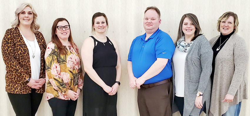 The Durant Chamber of Commerce held its Annual Dinner Feb. 6. Local community and business members gathered to enjoy a catered meal by Jeff's Market and listen to the past and upcoming events in Durant. The 2020 chamber officers include (from left): President Kiley Van Sloten, Heather Wiskow, Dr. Karen Hunter, Treasurer Jack Pearlman, Layce DeLong and Dawn Smith. Absent from photo: Vice President Orville Randolph.
