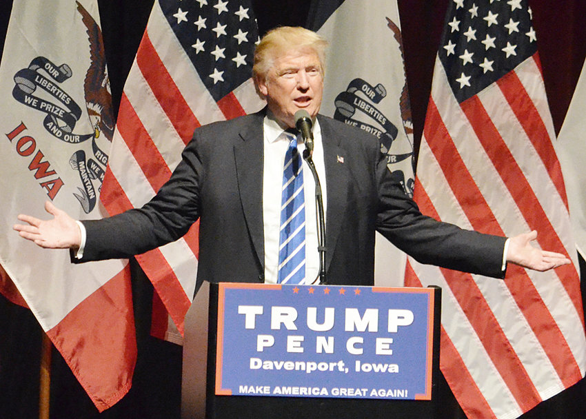 President Donald Trump won the Republican caucuses with 98 percent of the Iowa vote.