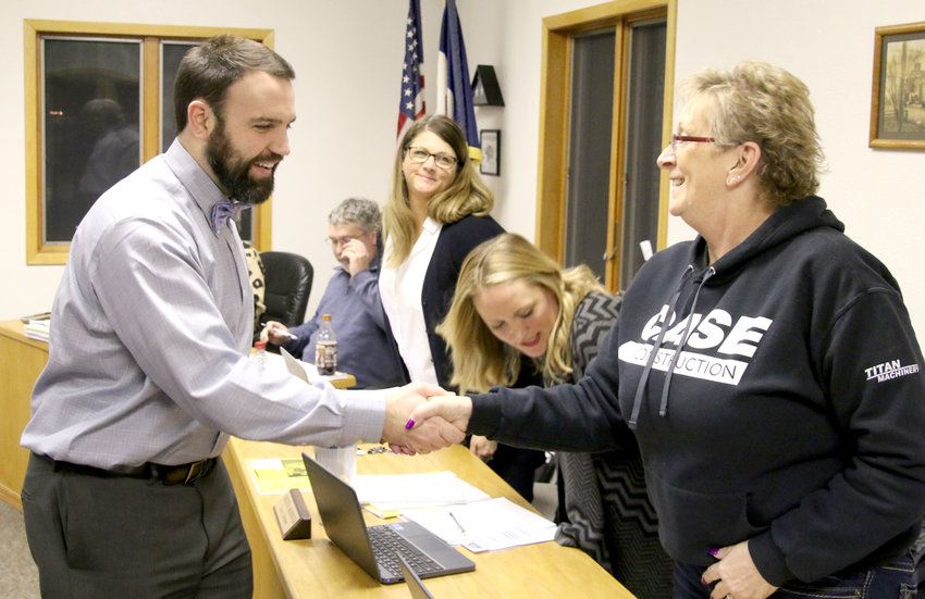 North Scott Schools assistant superintendent Michael Kline fills the Princeton council seat vacated by Amy Simmons, who resigned. Kline was Grissom principal before his school district promotion, and also served as city park board chairman. He said council service seemed a good fit for the community that he and his family call home. Kline joins, from left, Mmayor Kevin Kernan, and council members Jami Stutting, Christina McDounough and Karen Woomert. Council members voted 3-0 for his appointment, and he was sworn in. Council member Gina Wolfe was absent.