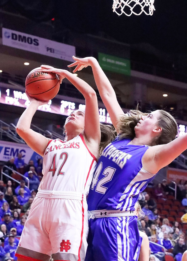 As has been the norm all season, Grace Boffeli led the Lancer attack with 28 points and nine rebounds.