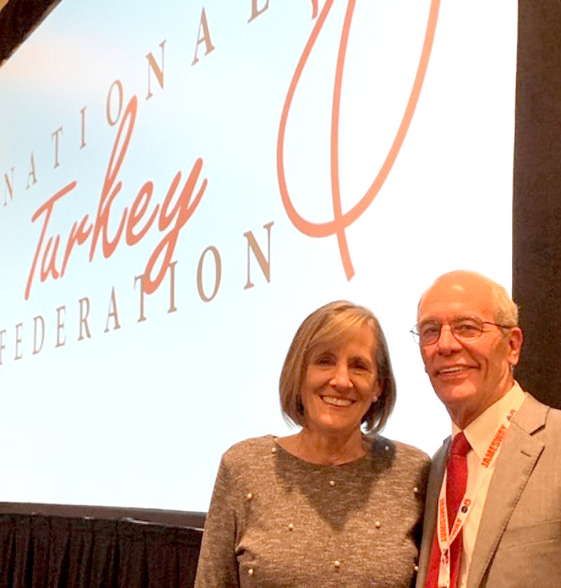 Ron Kardel, shown with his wife, Susie, at the February National Turkey Federation in Nashville, was elected the 2020-21 chairman. As chairman, Ron will have the honor of providing turkeys for the President of the United States come November.