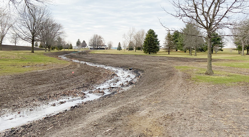 Wahkonsa Country Club has added a man-made creek along hole No. 7 to help with continued water drainage issues. Needham Excavating of Walcott helped shape the new feature, which will direct water from the course along hole No. 7, south through holes 8 and 5 toward Highway 6.