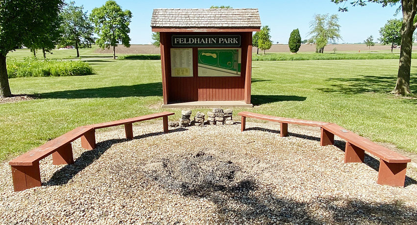 The fire ring area in Durant's Feldhahn Park will receive a fire pit made from bricks courtesy of an upcoming Eagle Scout project by incoming Durant High School senior Luke Abels.