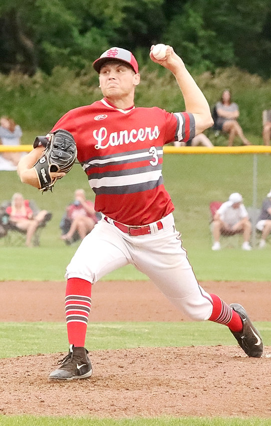 Jake Matthaidess finished his Lancer career with a strong outing against Pleasant Valley Monday night, giving up just three earned runs while striking out eight in a 7-2 loss.