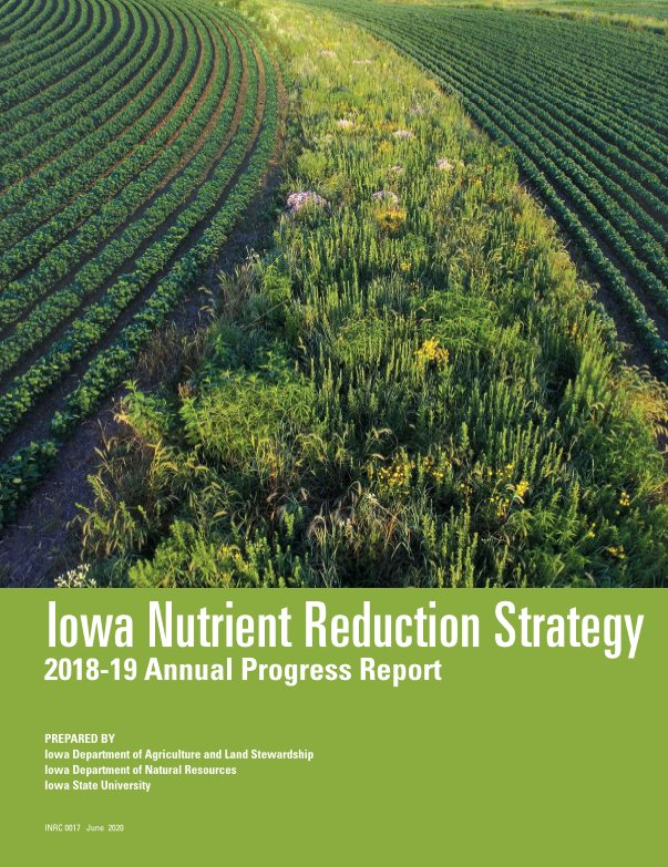 Cover of this year's Iowa Nutrient Reduction Strategy report.