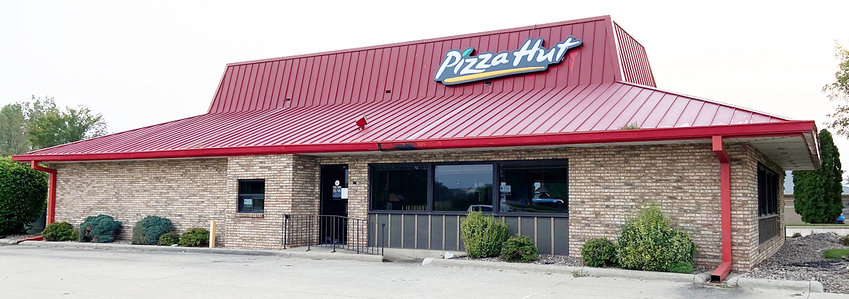 """The Tipton Pizza Hut, which first opened in 1990, is shown above, just days after signs could be seen in the window Sept. 15 saying, """"We're sorry! This restaurant has closed."""""""