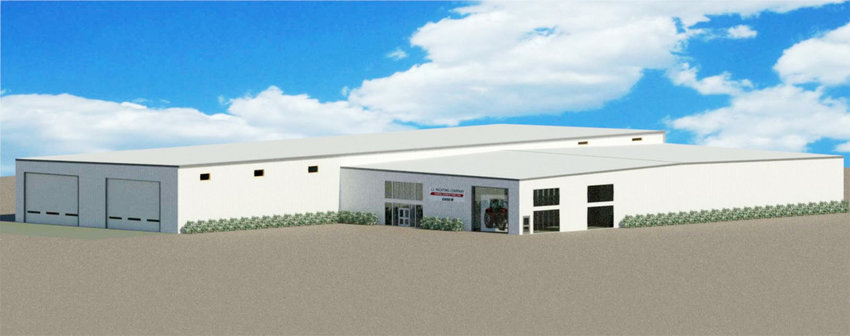 An artist's rendition of what the new J.J. Nichting Company location near the Interstate 80 West Liberty interchange will look like.