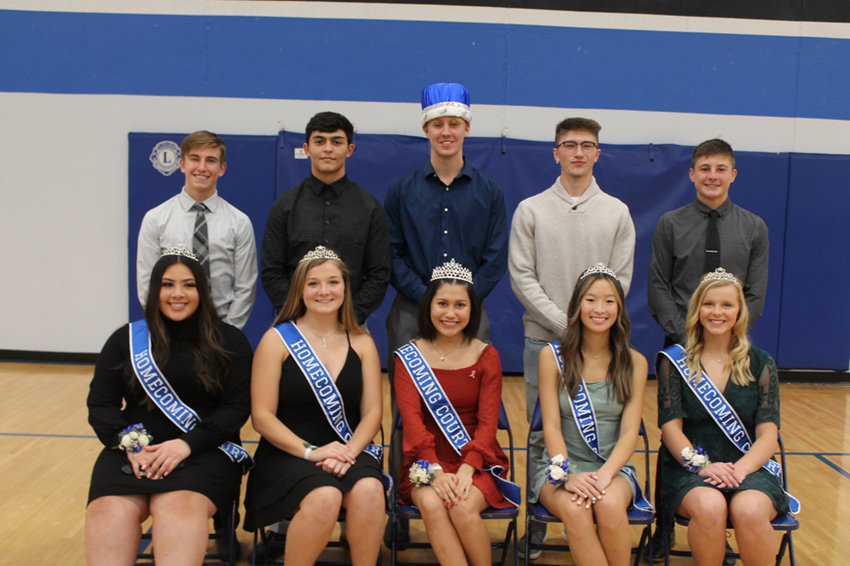Meet the 2020 West Liberty High School Homecoming Court, which includes, in front, Yaire Filerio, Janey Gingerich, Queen Naylea Verdinez, Abby Tanchinh and Isabel Morrison. In the back are Alex Beaver, Austin Elizalde, King Chance Thrasher, Lake Newton and Sam Gingerich.