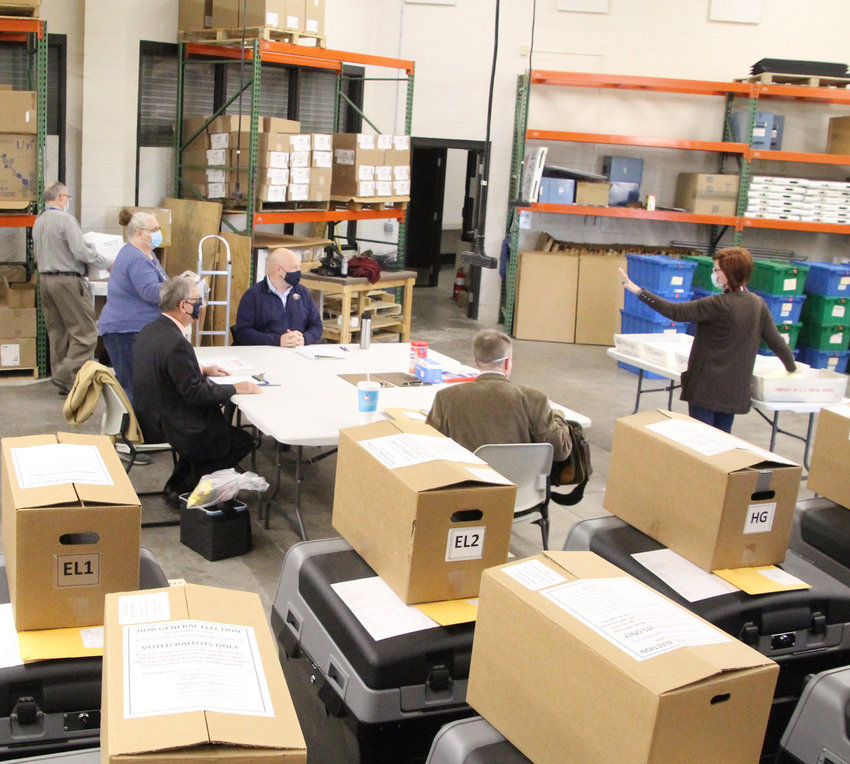 Recount board members convene in Scott County, Tuesday, Nov. 17, 2020