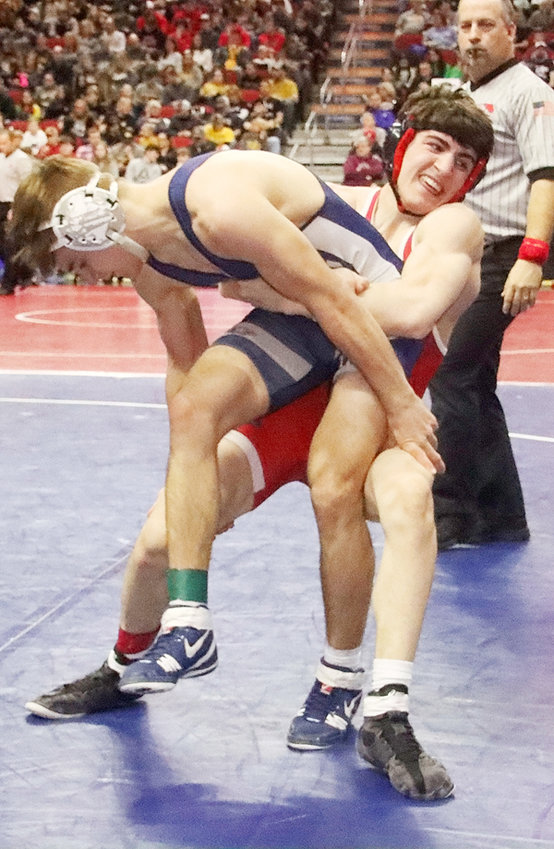 NS senior Deven Strief is a two-time state placewinner and is ranked third at 160 this year.
