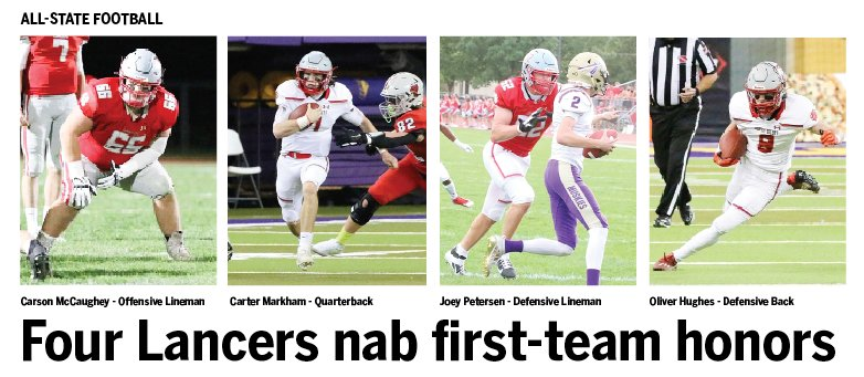Carson McCaughey, Carter Markham, Joey Petersen and Oliver Hughes are named first-team all-stars.