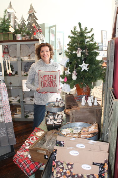 Lisa Browning at Shop 121 in downtown West Liberty.
