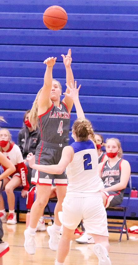 Senior Reagan Schoening delivered a dagger-like three in the fourth quarter of Saturday's win over West Liberty.
