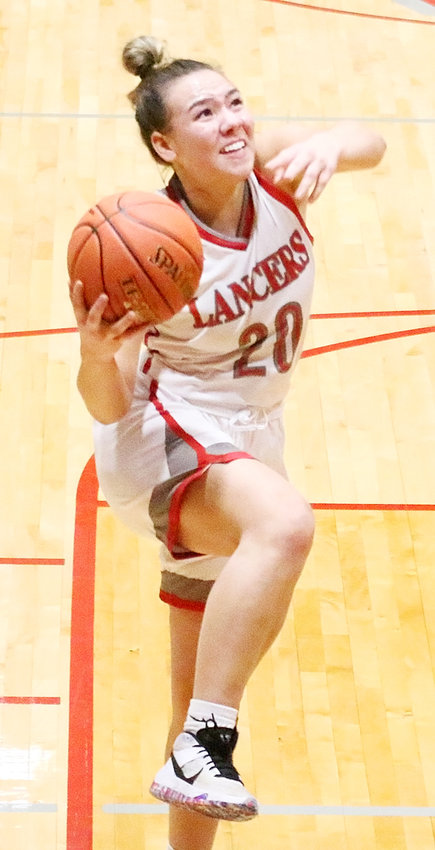 NS senior Ashley Fountain poured in 15 points to lead the Lancers to a 71-17 victory over West.