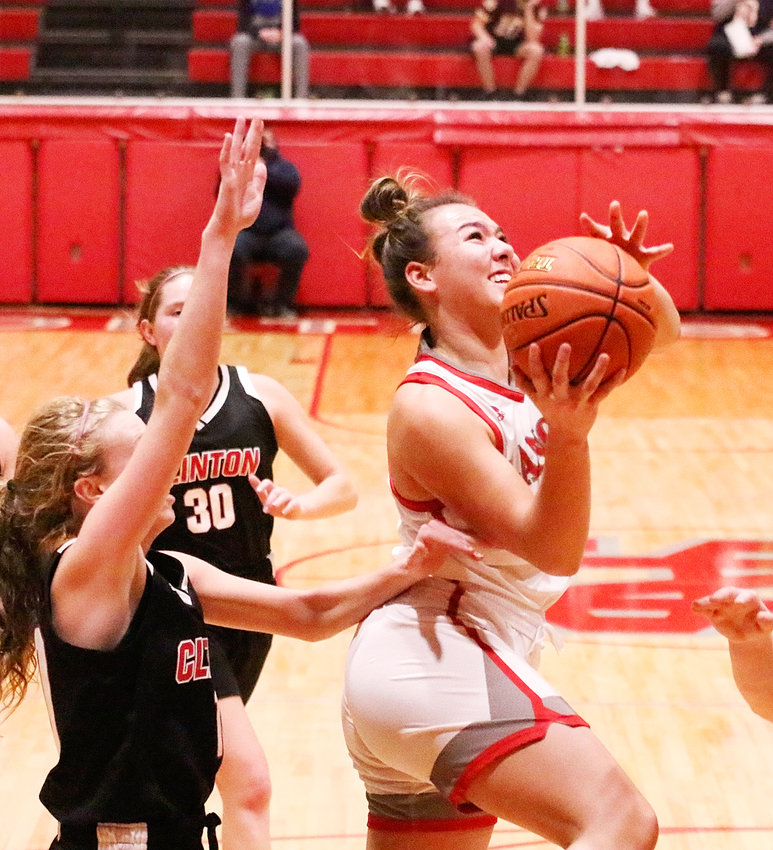 There were plenty of points to go around in Friday night's 68-30 Mississippi Athletic Conference win over Clinton, and Lancer senior Ashley Fountain led the way with a 13-point night. She also added seven assists and six steals.
