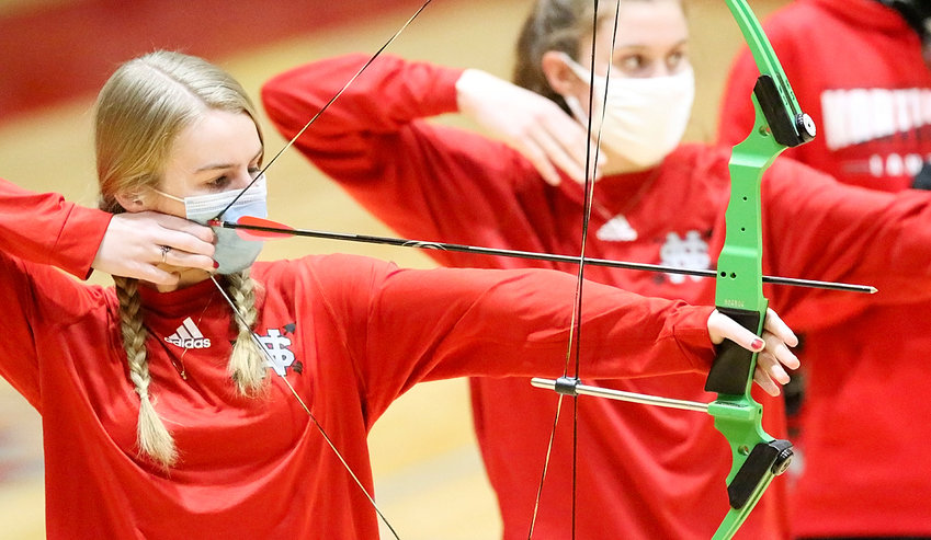 Katherine Van Ness has qualified for the state archery tournament, and will compete at North Scott on Saturday.