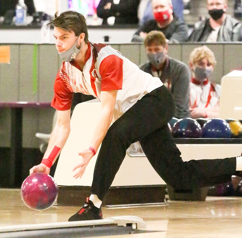 Lancer senior Dylan Elam finished second in the individual standings at the Class 2A state bowling tournament with a 490 series.