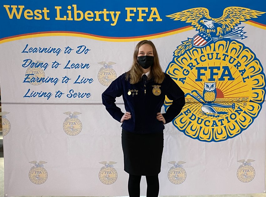 Brielle Page won an honor for her work in rebuilding the West Liberty FFA website.