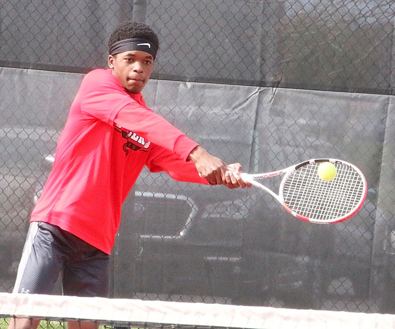 Junior Brehon Allen has been a fixture in the No. 2 singles slot for North Scott's boys' tennis team this year.