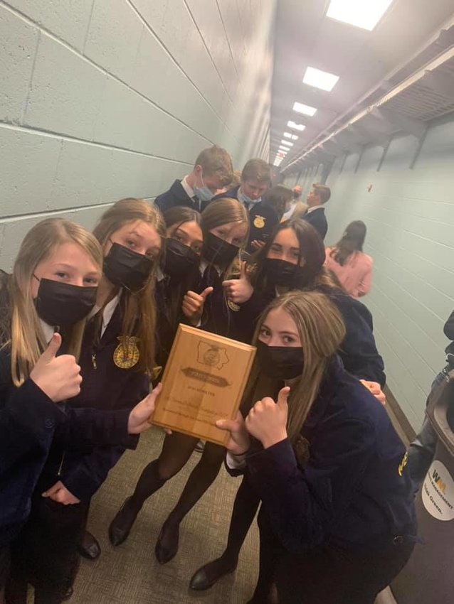 The Ag Career and Science Investigation development team, composed of six West Liberty Middle School eighth grade girls, also won a state title. The team includes Sophie Buysse, Mia Gingerich, Madi Stultz, Jada Mass, Daisy Kivi and Ava Morrison.