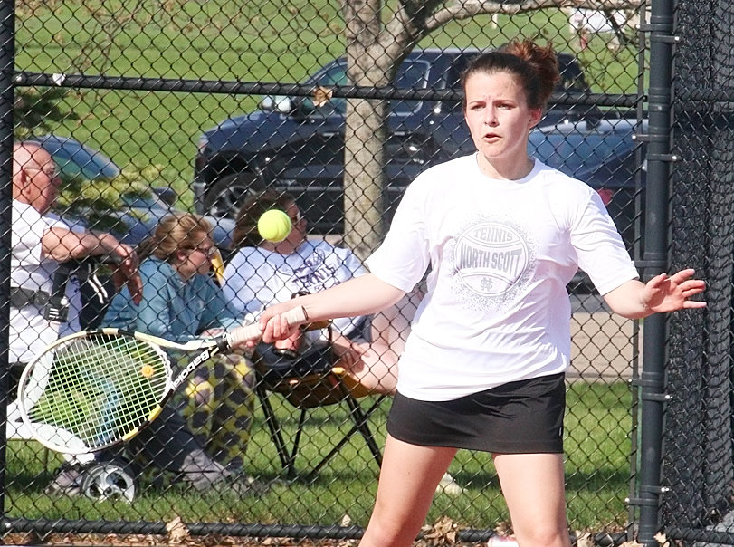 Senior Madison Knoche has been North Scott's top player all season, and has performed well at No. 1 singles.