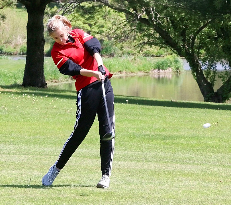 Junior Kendall Deutmeyer will be competing in her second regional golf tournament when she takes the course with her Lancer teammates on Monday.